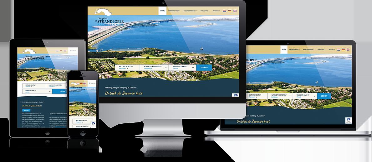Website De Strandloper door Prosuco